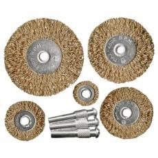 Набор щеток для дрели, 5 плоских 25-38-50-63-75, со шпильками MATRIX 74494