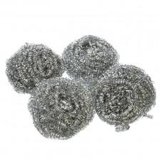 Набор губок металлических 4шт, спираль, 15г, 441-111 VETTA