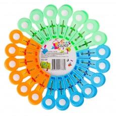 Набор прищепок 20шт, пластик, 3 цвета