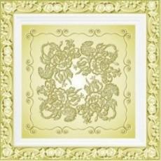 Плита потолочная Ар-Деко золото