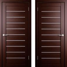 Дверное полотно экошпон Анкона 9 Венге ПО-800