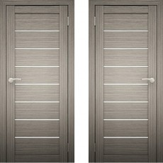 Дверное полотно Амати-01 Дуб дымчатый экошпон ПО-600