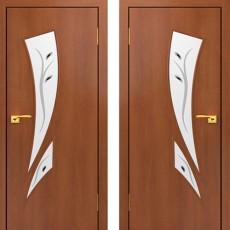 Дверное полотно С-02 Итальянский орех ПОФ-600