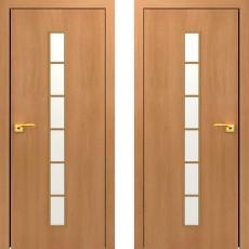 Дверное полотно остекленное С-12 Миланский орех ПО-600