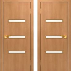 Дверное полотно остекленное С-36 Миланский орех ПО-600