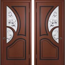 Дверь шпонированная Велес шоколад ПО-600