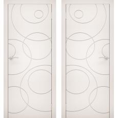 Дверное полотно Эмаль 18 белый  ПГ-800