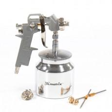 Краскораспылитель пневматический с нижним бачком V-0.75л MATRIX 57317