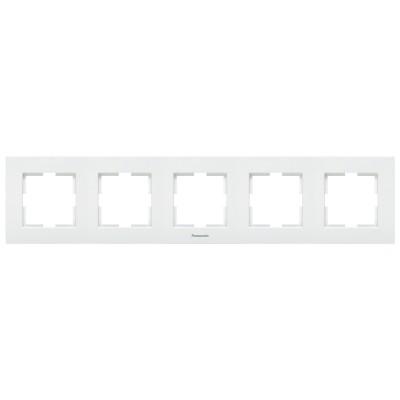 Рамка 5-х постовая белая Аркадия WMTF08052WH-BY Panasonic