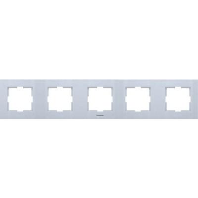 Рамка*5 универсальная серебро WKTF08052SL-BY Panasonic