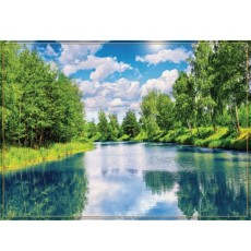 Декоративное панно Лесное озеро 294х201  (9 листов)
