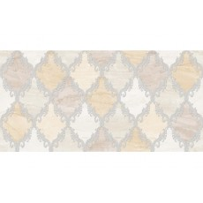 Декор Дубай-3 светло- бежевый 25Х50