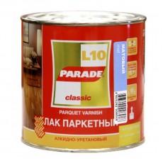 """Лак паркетный """"PARADE"""" L-10 алкидно-уретановый матовый 0,75 л"""