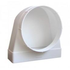 Соединитель угловой 90° пластик 511СК10ФП, плоского воздуховода с фланцевыми воздухораспределителем