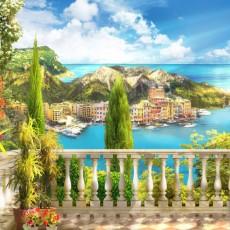 Фотообои Греческий балкончик DECOCODE 13-0317-BL (130х250 см)