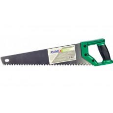 """Ножовка по сырой древесине 400мм """"Runex"""" Green (прямой крупный зуб, 2-к рукоятка)"""