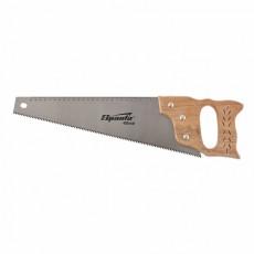 Ножовка по дереву, 400 мм, 7-8 ТРI, каленый зуб, линейка, деревянная рукоятка// SPARTA 231855