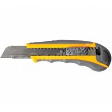 """Нож """"Мастер Плюс"""" 18 мм Обрезиненный корпус с направляющей /9005104/"""