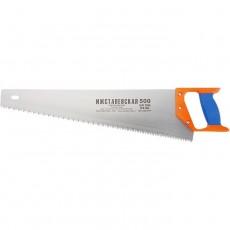 Ножовка по дереву, 400 мм, шаг зубьев 4 мм, пластиковая рукоятка (Ижевск) Россия 23163