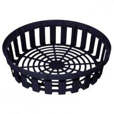 Корзина для луковичных круглая черная h 8 см, d 30 см, пластиковая