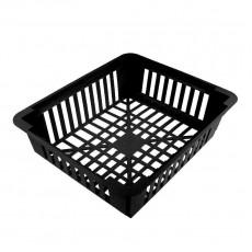 Корзина для луковичных черная квадратная 24,5*х20 см, h7 см, пластиковая