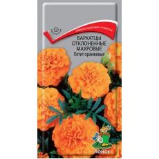 Бархатцы отклоненные махровые Петит оранжевые ( ЦВ)  0,4гр.