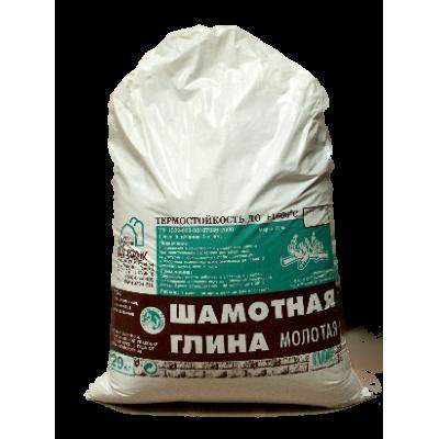 """Глина шамотная (огнеупорная) 20 кг """"Диана"""" /50"""