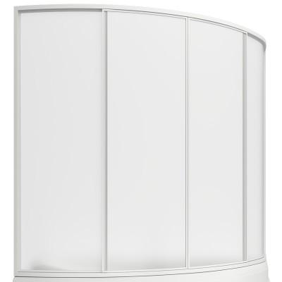 BAS шторка д/ванны Сагра 160см,4створки,пластик Watter