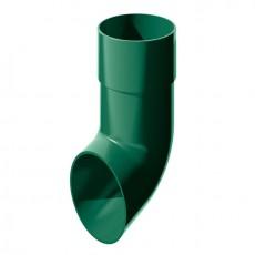 Слив трубы водосточной ТН ПВХ, зеленый