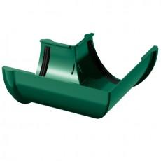 Угол желоба водосточного 90° ТН ПВХ, зеленый